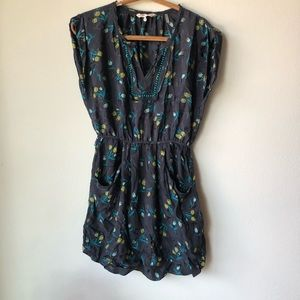 Rebecca Taylor Size 2 blue floral dress